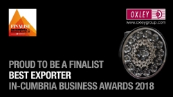 Oxley Best Exporter Finalist at the In-Cumbria Business Awards 2018