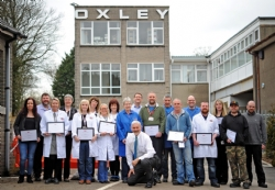 Oxley present 35 employees with long service awards