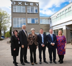 Prime Minister Theresa May visits Oxley